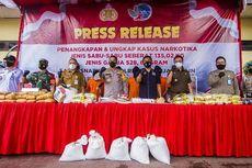 Rekor, Polresta Banjarmasin Gagalkan Penyelundupan Sabu 135 Kilogram dari Malaysia