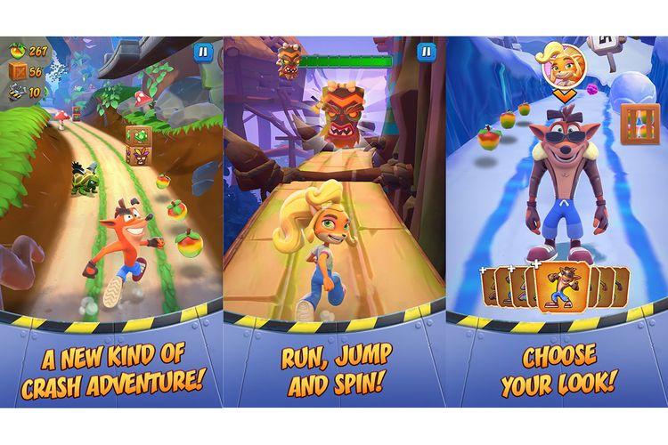 Tangkapan layar game Crash Bandicoot On the Run