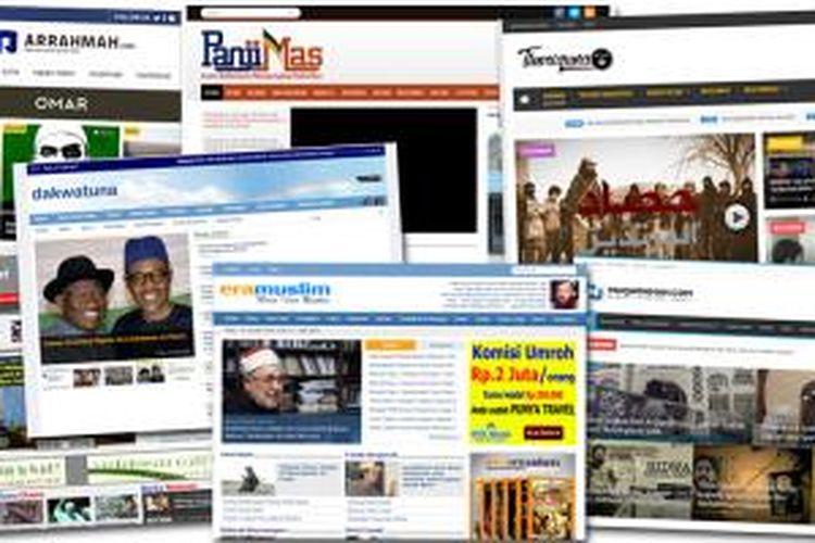 Situs-situs yang diblokir karena diduga memuat konten terkait radikalisme.