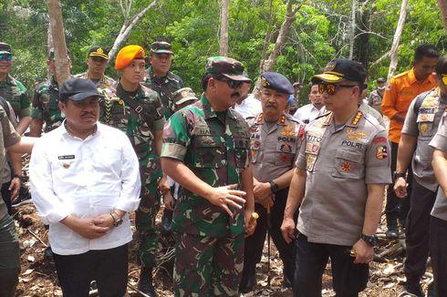 Panglima TNI dan Kapolri Tinjau Lahan Bekas Terbakar di Rupat Bengkalis