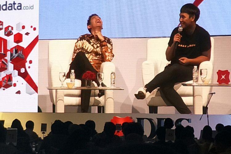 Founder & CEO Warung Pintar, Agung Bezharie (kanan) discard DBS Asian Insight Conference