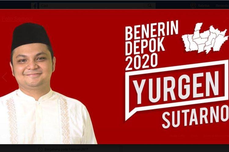 Yurgen Alifia Sutarno mencalonkan diri sebagai bakal calon Wali Kota Depok 2020.