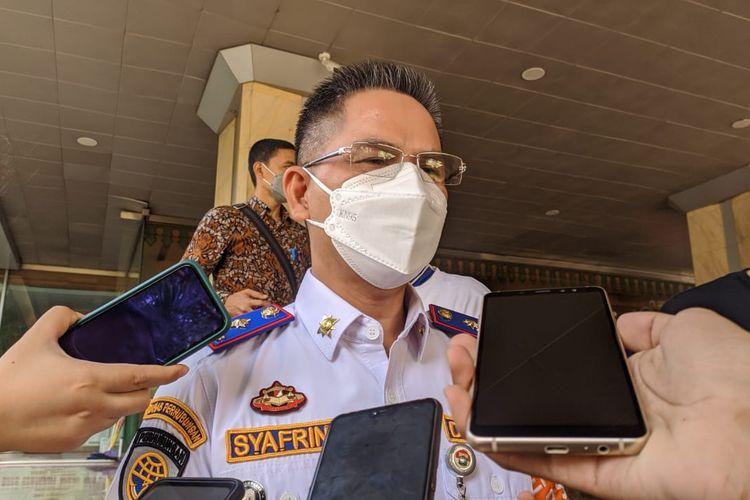 Kepala Dinas Perhubungan DKI Jakarta Syafrin Liputo saat ditemui di Balai Kota DKI Jakarta, Kamis (22/4/2021)