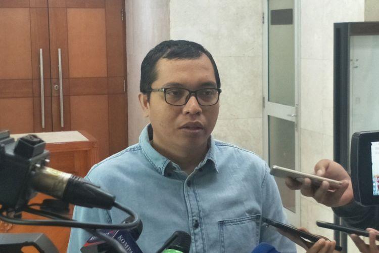 Anggota Komisi II dari Fraksi Partai Persatuan Pembangunan (F-PPP) Ahmad Baidowi di Kompleks Parlemen, Senayan, Jakarta, Rabu (12/12/2018).