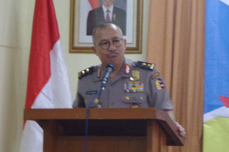 Kepala Divisi Humas Polri Irjen (Pol) Setyo Wasisto di sebuah acara diskusi di bilangan Cikini, Jakarta Pusat, Minggu (30/4/2017).