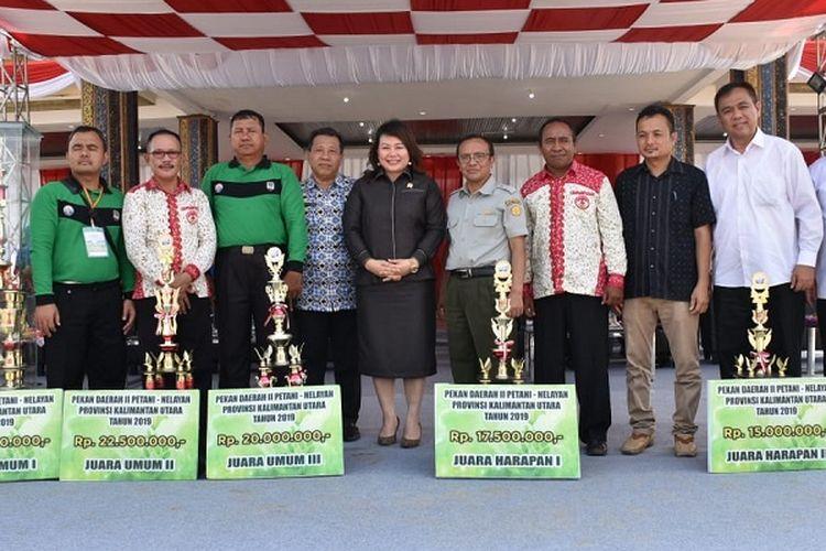 Inspektur Jenderal Kementan Justan Riduan Siahaan saat menghadiri penutupan Pekan Daerah (PEDA) II Petani dan Nelayan Kaltara di Kabupaten Bulungan, Kamis (12/9/2019).