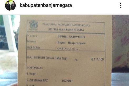 Pamer Slip Gaji Rp 5,9 Juta di Instagram, Bupati Banjarnegara Juga Terima Uang Operasional Rp 31 Juta