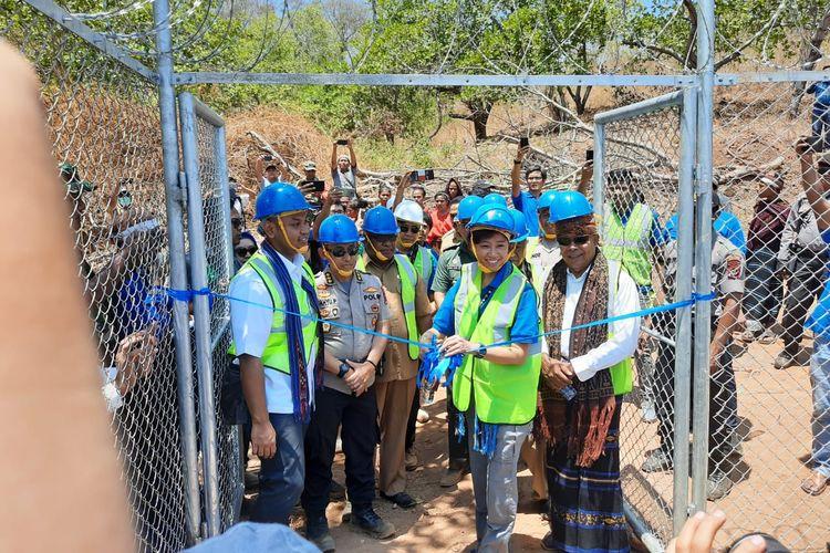 Manajemen XL Axiata dan Kementerian Komunikasi dan Informatika (Kominfo) meresmikan salah satu BTS USO di Desa Aewora, Kecamatan Maurole, Kabupaten Ende, NTT, Senin (28/10/2019).