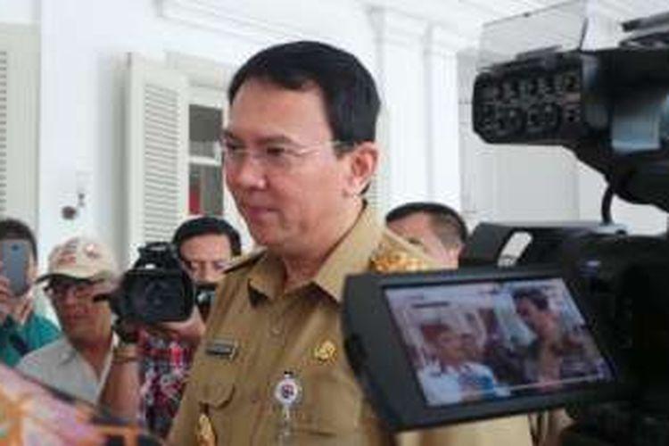 Gubernur DKI Jakarta Basuki Tjahaja Purnama saat berada di Balai Kota DKI Jakarta, Selasa (14/6/2016).