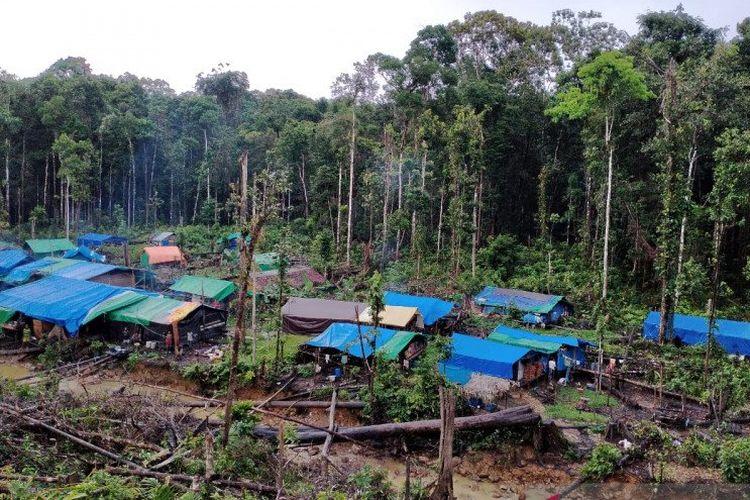 Wilayah Maining 33 salah satu lokasi tambang rakyat di Korowai, Kabupaten Pegunungan Bintang, Provinsi Papua.