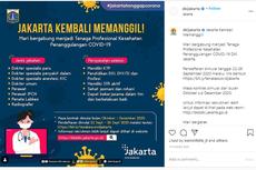 Pemprov DKI Jakarta Buka Pendaftaran untuk Nakes Penanggulangan Covid-19, Ini Rinciannya...