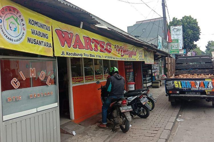 Salah satu warteg di Tangerang milik Rojikin, pengusaha warteg yang terdampak pandemi Covid-19