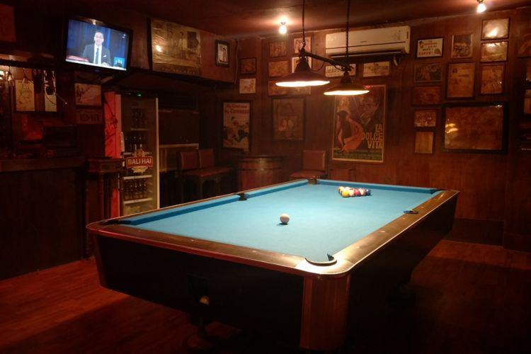 Meja biliar di Jaya Pub yang terletak di Jalan Thamrin, Jakarta Pusat.