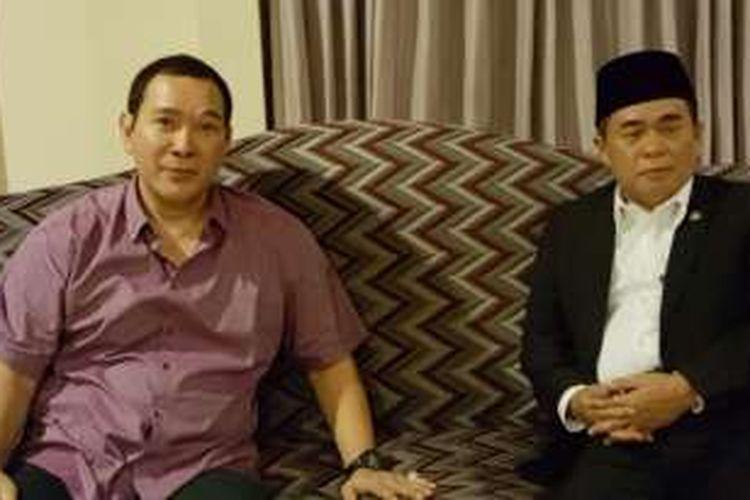 Bakal calon ketua umum Partai Golkar Ade Komarudin bertemu Tommy Soeharto di kediamannya di kawasan Cendana, Jakarta Pusat, Kamis (28/4/2016) malam.