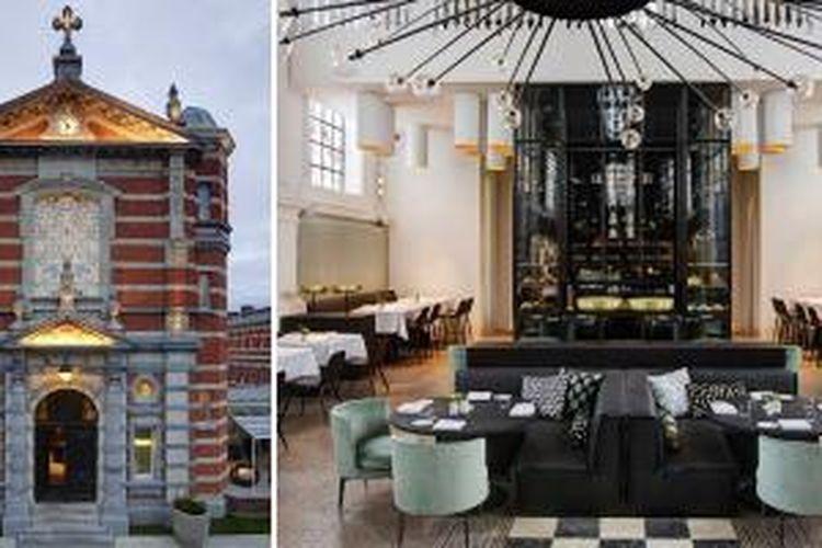 Desainer asal Belanda, Piet Boon, mentransformasi interior kapel rumah sakit militer di Antwerp, Belgia menjadi restoran kontemporer. Berikut ini tampak depan dan interior restoran tersebut.