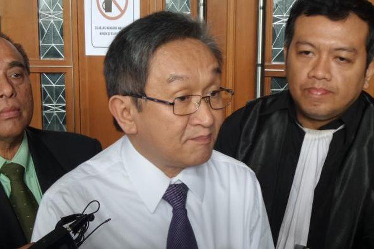 Pengacara Maqdir Ismail di Pengadilan Tipikor Jakarta, Rabu (8/2/2017).
