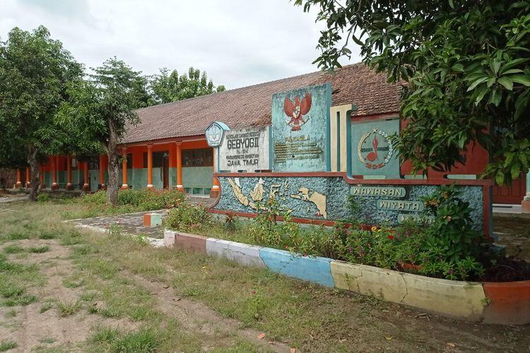 Gedung SD 02 Desa Gebyog yang dijadikan fasilitas ruang isolasi pasien covid 19 tanpa gejala sempat ditolak warga.