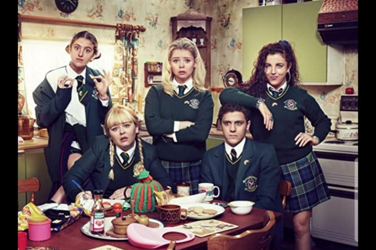 Pemeran serial Netflix berjudul Derry Girls (2018)
