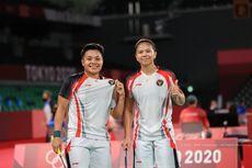 Ragam Ekspresi Greysia/Apriyani Menuju Final Olimpiade: Salim Hingga Cium Lambang Garuda