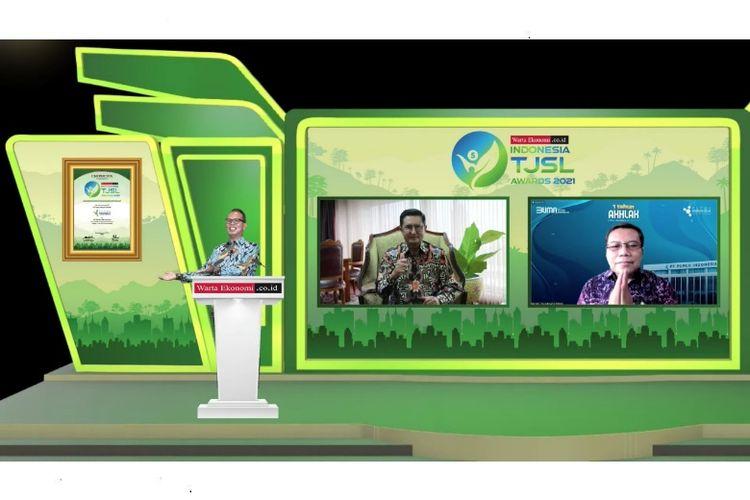 PT Pupuk Indonesia (Persero) meraih Indonesia Best Tanggung Jawab Sosial Lingkungan (TJSL) Award 2021, Kamis (23/9/2021)