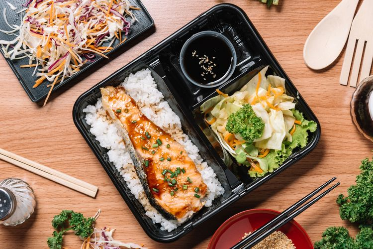 ILUSTRASI - paket makan siang di Jepang