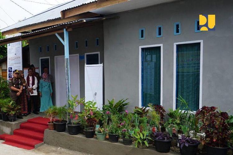 Rumah yang telah mendapat bantuan BSPS dari pemerintah.