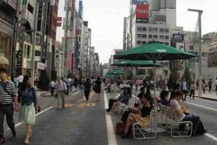 tempat melepas lelah di Ginza
