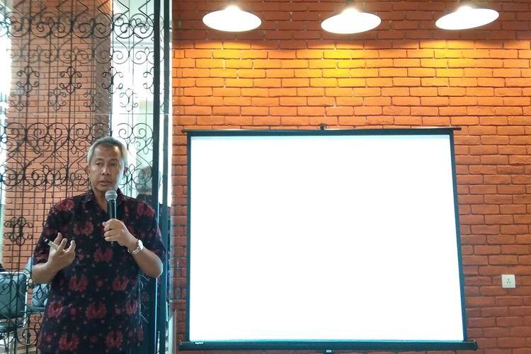 Founder dan Chairman Chapters Indonesia Luthfi Mardiansyah dalam konferensi pers tentang perkembangan E-Health di Jakarta, Senin (19/8/2019).