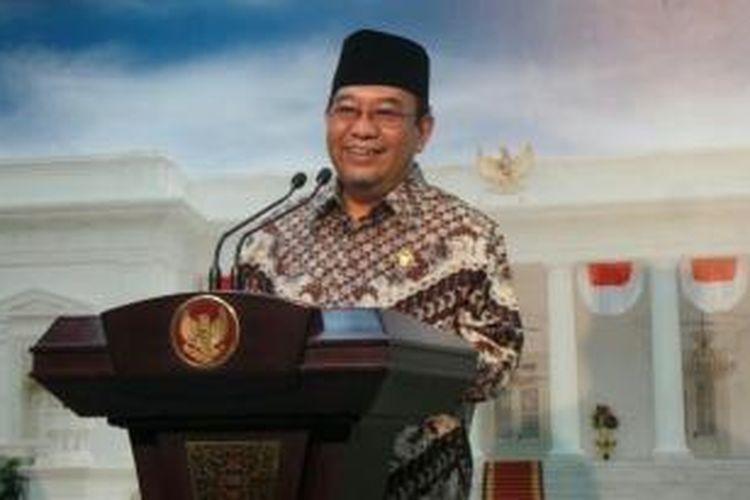 Ketua Badan Pemeriksa Keuangan Harry Azhar Azis usai menemui Presiden Joko Widodo di Istana Kepresidenan, Senin (12/10/2015).