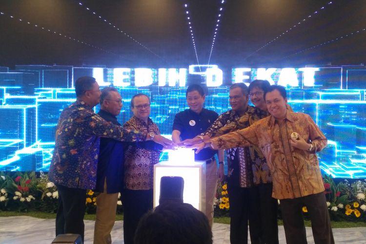 Kementerian ESDM meluncurkan contact center ESDM 136 di Kantor ESDM, Jakarta, Rabu (15/8/2018).