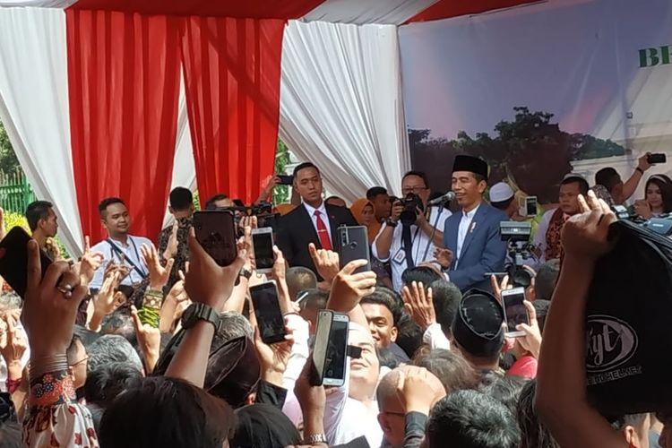 Joko Widodo Hadiri Acara Open House dengan Warga di Depan Monas, Rabu (5/6/2109)