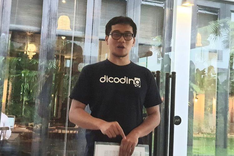 CEO Dicoding, Narenda Wicaksono di acara jumpa media di Jakarta, Rabu (15/5/2019).
