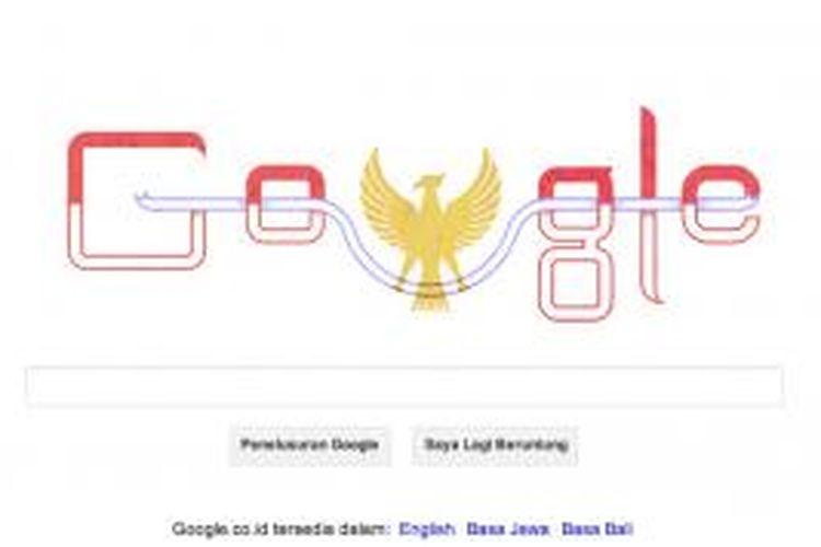 Google doodle tanggal 17 Agustus 2013 untuk memperingati Hari Kemerdekaan Indonesia ke-68