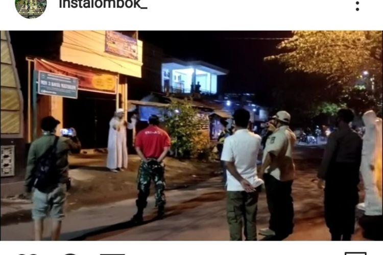 tangkapan layar video viral pasien positif Covid-19 eggan dibawa untuk diisolasi di rumah sakit Mataram