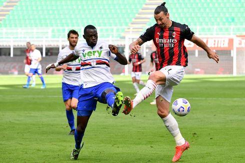 AC Milan Vs Sampdoria, Skor Kacamata Tutup Babak Pertama