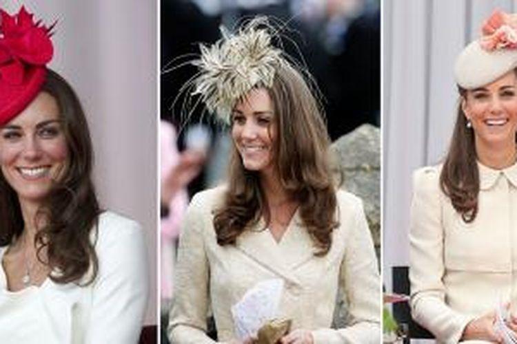 Layaknya para bangsawan wanita di Inggris, Kate Middleton menggemari dan mengoleksi aksesori topi serta dekorasi kepala.