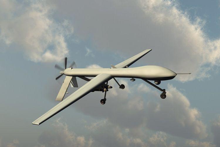Ilustrasi pesawat nirawak.
