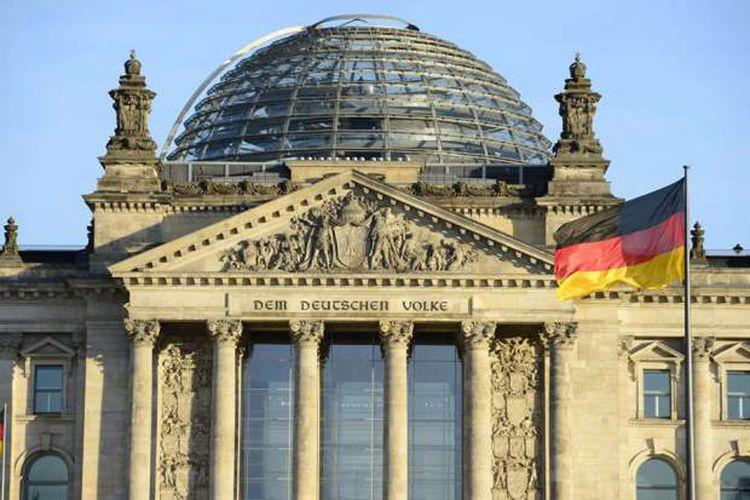 Bangunan Reichstag di Berlin, Jerman.