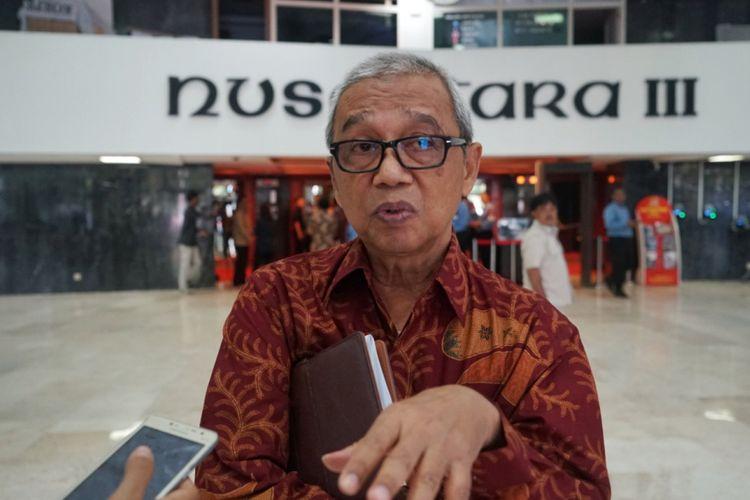 Ketua PPMuhammadiyah Bidang Hukum dan HAMBusyro Muqoddas di Kompleks Parlemen, Senayan, Jakarta, Senin (21/5/2018).