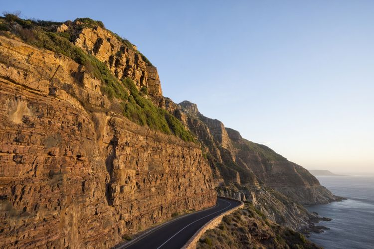 Chapmans Peak Drive di Afrika Selatan.