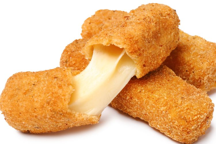 Ilustrasi keju mozzarella.