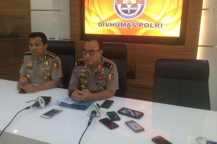 Kepala Biro Penerangan Masyarakat Humas Polri Brigjen (Pol) Dedi Prasetyo di Gedung Humas Mabes Polri, Jakarta Selatan, Kamis (3/1/2019).