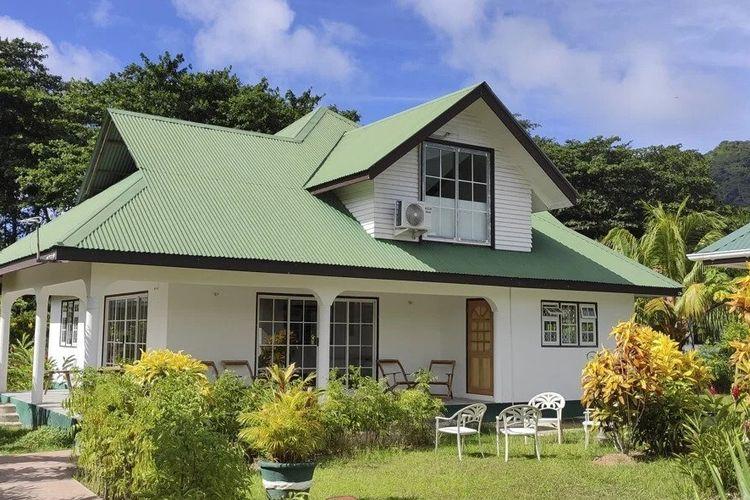 Villa dua lantai tempat Rex Yang dan keluarganya tinggal di Seychelles.