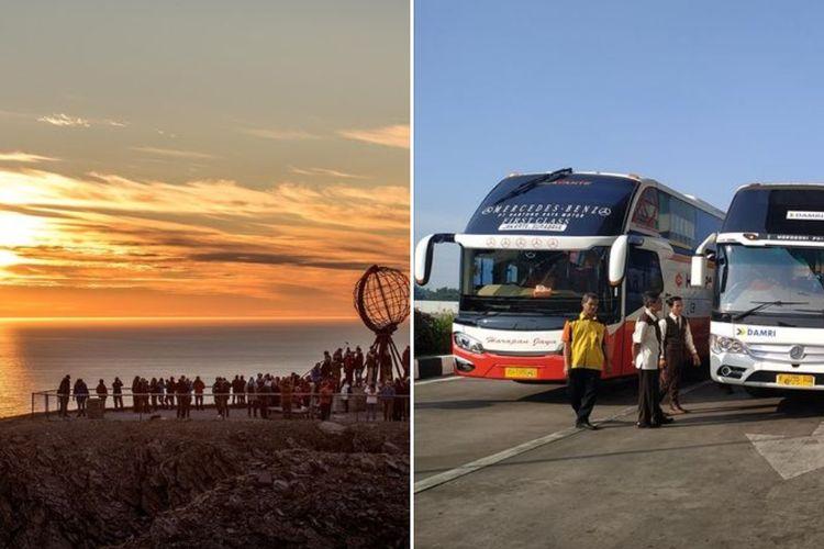Fenomena midnight sun dan ilustrasi bus