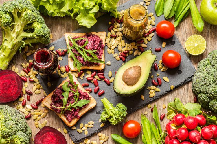 ilustrasi diet vegan