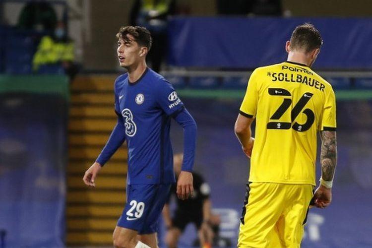 Kai Havertz mencetak hattrick alias tiga gol pada laga Chelsea vs Barnsley di Putaran Ketiga Piala Liga Inggris 2020-2021.