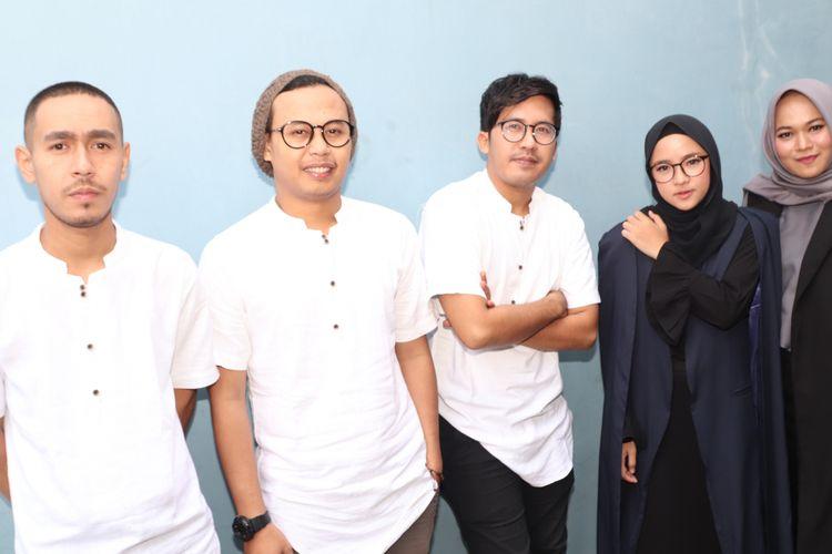 Sabyan Gambus saat ditemui di kawasan Tendean, Jakarta Selatan, Selasa (5/6/2018).