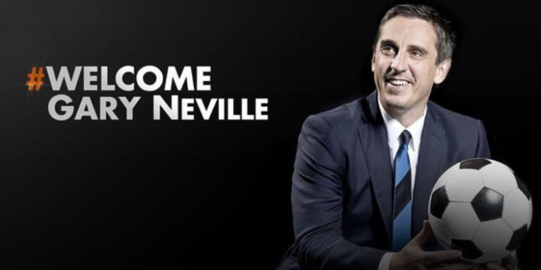 Gary Neville saat masih menjadi pelatih Valencia, Rabu (2/12/2015).