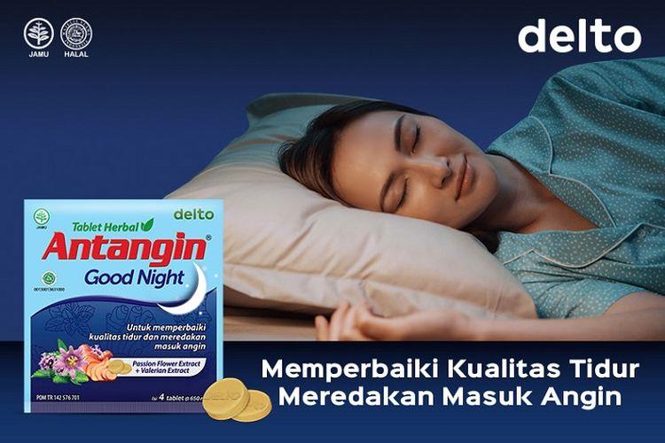 Antangin Good Night, produk herbal untuk memperbaiki kualitas tidur dan meredakan masuk angin.