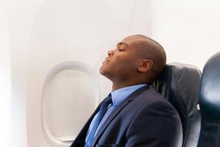ILUSTRASI - Penumpang di pesawat